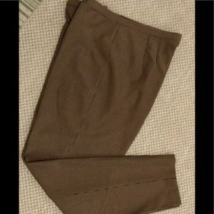Talbots Brown Check Dress Pant 14